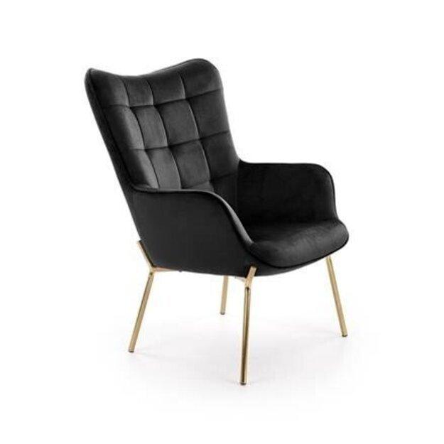 CASTEL 2 poilsio fotelis auksinis / juodas