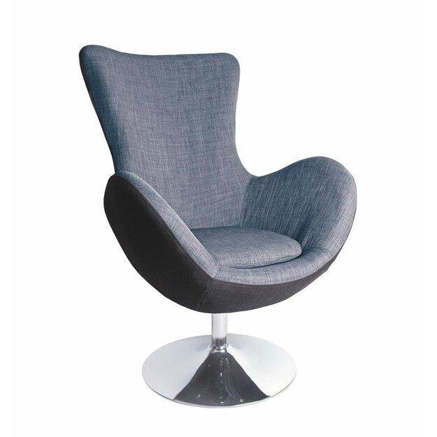BUTTERFLY poilsio fotelis juodai-pilkas