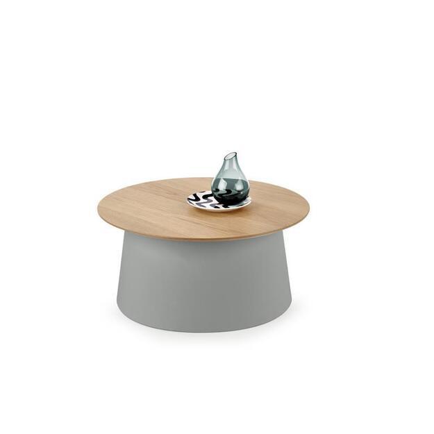 AZZURA pilkas kavos staliukas