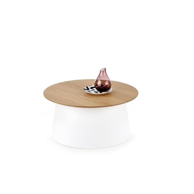 AZZURA baltas kavos staliukas